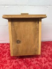 "Bat House 2 Chamber Wood Handmade In Usa 16 1/2"" x 12 "" x 7.5"""