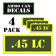 ".45 LC Ammo Can 4x Labels Ammunition Case 3""x1.15"" stickers decals 4 pack AG"