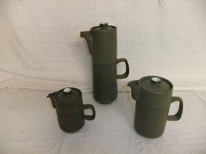 c4 Pottery Denby Chevron - tea pots, coffee pots, kettle, various sizes - 1C4E