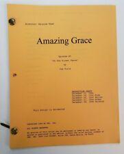 "AMAZING GRACE / Joe Viola 1994 TV Series Script, ""On the Picket Fence"""