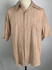 Vintage Penny's Towncraft Striped Rockabilly Shirt Large Tapered Penn Prest