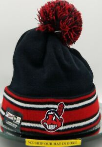 Cleveland Indians~MLB~New Era~Beanie~Authentic~AC Knit 2018~Navy,Red & White