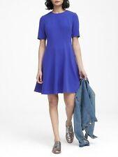 New Banana Republic Paneled Fit-and-Flare Dress Royal Blue Sz 0