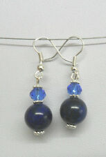 Dangle earrings - Lapis Lazuli 10mm round beads