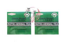 2 x Nutri-Herbal Tea Natural Herbal Laxative Tea Regular Strength 2G x 30 Bags
