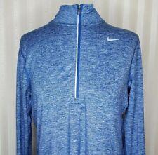 Nike Running Womens Sz S Element 1/2 Zip Long Sleeve Shirt Royal Heather EUC