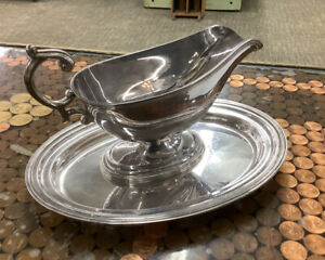 Sterling Silver Gravy Boat and Tray Reduced 9/1