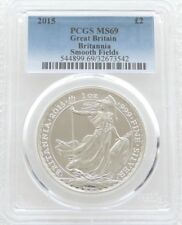 2015 Royal Mint Britannia Smooth Fields £2 Two Pound Silver 1oz Coin PCGS MS69