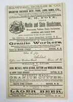 1882 Dover New Hampshire Advertisement Gurnsey Beer Schlitz Foye Butterfield