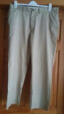 Ralph Lauren Mens Beige Chino Smart Casual Trousers Size 38 Waist W38 L32 Leg 32