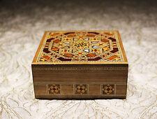 Schmuck Box,Schmuckschatulle,Handkraft mit Perlmutt,Holzmosaik Kunst,aus Syrien