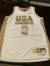 Authentic Nike Olympic Dream Team Michael Jordan Gold Midalist Edition Jersey