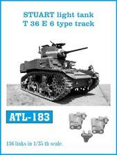 Friulmodel Metal Tracks for 1/35 Stuart Light Tank T 36 E 6 Type (136 links)