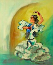 danseuse de flamenco espagnole décorative peinture à l/'huile Sans cadre