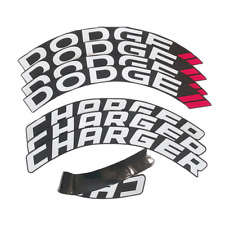 DODGE CHARGER Permanent Tire Lettering Car Stickers 15''-22'' 1.25''  8 PCs