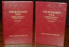 BUZZARDS TALE Ship's Doctor in WWII Memoirs SIGNED Leather 2v  GLENN HANKS WYLER