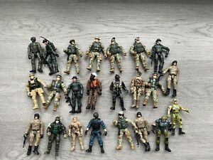23 X ARMY / MILITARY ACTION FIGURES