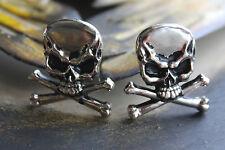 "Antique Nickel 1"" Punk, Biker Skull & Crossbones Screwback Concho $2.40 EA."