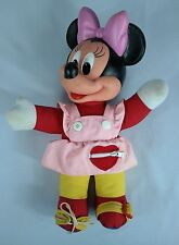 "VTG - Mattel Disney Learn To Dress Teaching Minnie Mouse 14"" Doll Plush/Plastic"