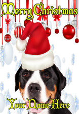 Entlebucher Mountain ptcc145 Santa Hat Christmas Card A5 Personalised Greeting