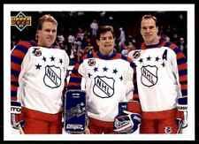 1991-92 Upper Deck UD NHL Mark Messier, Mike Richter, Brian Leetch #610