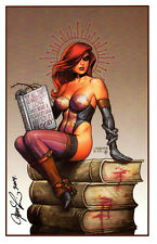 """DAWN - THE LIBRARY SDCC 2014 ART PRINT  By JOSEPH LINSNER / CRY FOR DAWN 11""""x17"""""""