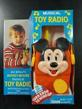 Walt Disney's Mickey Mouse Musical TOY RADIO, Vintage by Illco (wind-up)