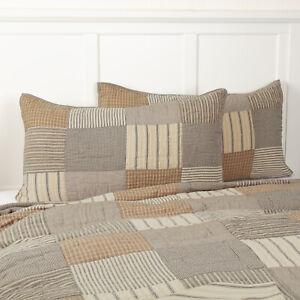 VHC Brands Farmhouse King Sham Grey Patchwork Sawyer Mill Charcoal Bedroom Decor