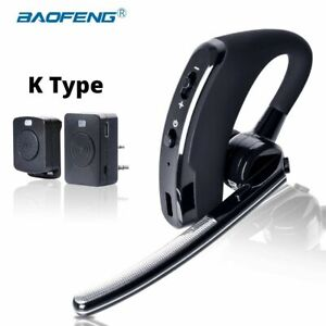 BAOFENG WALKIE TALKIE HEADSET PTT WIRELESS BLUETOOTH EARPHONE FOR 2-WAY RADIO US