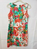 Alyx Limited Womens Size 10 Sheath Dress Sleeveless Floral Classic Fit Stretch
