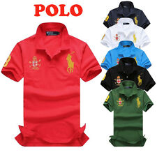 Men Lapel POLO Shirt Cotton Summer Solid Casual T-Shirt Short Sleeve Clothes Lot