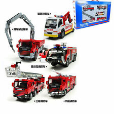 5PCS KDW 1:50 Scale Diecast Fire Trucks Vehicle Cars Model Combination With Box