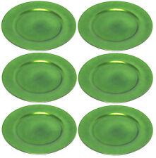 Platzteller Dekoteller Ø 33 Cm grün Kunststoff