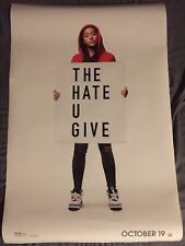 The Hate U Give Movie Poster DS 27x40 NM ORIGINAL THEATRICAL Angie Thomas 2018
