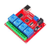 4-way 24VDC Control Switch PC Computer USB Drive Free Relay Switch Module