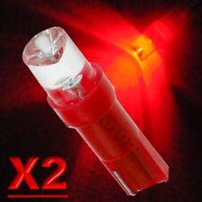 2 Pz LED T5 CONCAVE ROSSO Lampade Lampadine Per Quadro Strumenti e Posizione