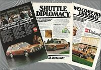 1978 DODGE DIPLOMAT station wagon advertisements x3, Sherlock Holmes & Watson
