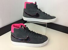 Nike High top Suede Women's Boots, Shoe, Uk 5.5 Eu38.5, Grey & Pink, Vgc