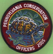 "Pa Pennsylvania Fish Game Commission NAWEOA NEW 4"" 2005 COPA Box Turtle Patch"
