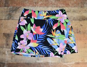 WOW IBKUL Skort Golf Skirt Active Tennis Floral Pockets Size Large EUC B52