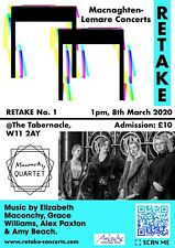 Entry for two to RETAKE - The Maconchy Quartet at Tabernacle in Notting Hill IWD