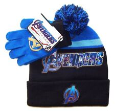 AVENGERS END GAME CAPTAIN AMERICA & IRON MAN Winter Beanie Hat & Gloves Set  $24