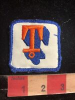 """Vintage Unknown Initial T """"T"""" Patch Brand Advertising 98NW"""