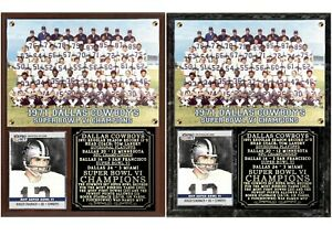 Dallas Cowboys Super Bowl VI Champions Photo Card Plaque