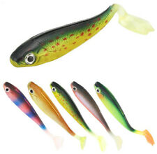 1401a2416 5pcs T Tail Soft Fishing Lures Silicone Bait Colorful Carp Simulation Lures  5g