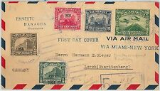 6268 - NICARAGUA - POSTAL HISTORY - ERRORS on Cover to GERMANY 1931  AVIATION