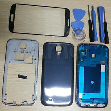 Full Housing Case + Glass + Tool For Samsung Galaxy S4 SIV 4G LTE I9505 Black