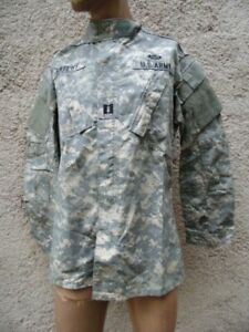 US ARMY : VESTE CAMOUFLEE PARACHUTISTE / PIXELLATED CAMO JACKET USA SMALL LONG