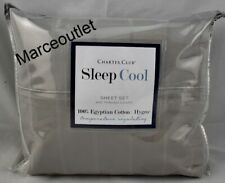 Charter Club Sleep Cool Egyptian Cotton Hygro King Sheet Set Penguin Grey