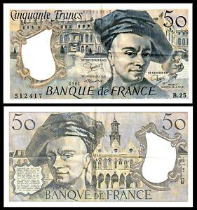 FRANCE , 1981  50 FRANCS, Banque de France, Maurice de la Tour